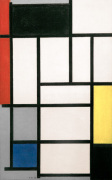 Composition with Red Black Yellow Blue and Grey 1921