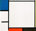 Composition with Blue Yellow Red Black and Grey 1922