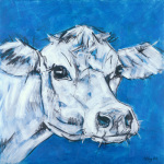 Cow on Blue 2