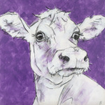 Cow on Purple 3