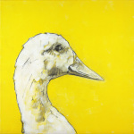 Goose on Yellow
