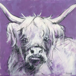 Bull on Purple 2
