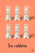 Six rabbits