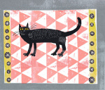 Mr Black Pink Rug Cat