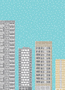 Tower Blocks in the Snow