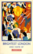 Brightest London and home by Underground 1924