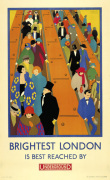 Brightest London is best reached by Underground 1924