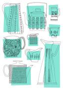 Teapots & Jugs (blue)