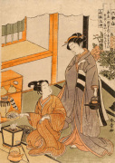 Young lovers preparing tea