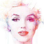 Watercolour Marilyn