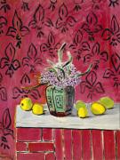 Citrons sur Fond Rose Fleurdelise 1943
