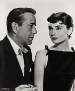 Audrey Hepburn with Humphrey Bogart