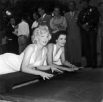 Marilyn Monroe and Jane Russell at Grauman's Chinese Theatre