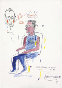 Sketch of Keith Haring 1983