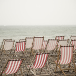 Deckchairs on Beer Beach