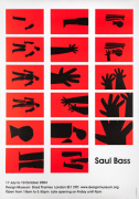 Saul Bass Exhibition Poster 2004