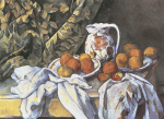 Still Life with Curtain and Fruit