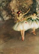 Ballerine alla barra by Edgar Degas