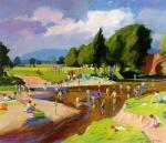 Bathers in the Endrick by John Cunningham