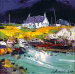 Boats, Portuairk, Ardnamurchan by John Lowrie Morrison