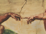 Creation of Adam (Detail - small) by Michelangelo