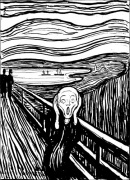 The Scream (b&w) by Edvard Munch