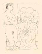 Modele et Grand Tete Sculptee 1933