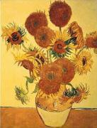 Sunflowers on Gold (large) by Vincent Van Gogh