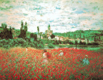 Field of Poppies, Vetheuil by Claude Monet