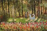 The Artist's Family in the Garden at Argenteuil by Claude Monet