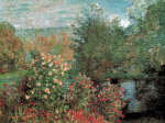 Corner of the Garden of Montgeron, or The Dahlias by Claude Monet