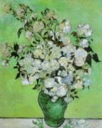 Vase of Roses, 1890 by Vincent Van Gogh