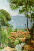 L'Estaque - Villa of JF, 1884 by Paul Cezanne