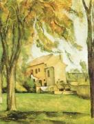 Chestnut-trees and Farm at Jas de Bouffan by Paul Cezanne