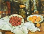 Still Life with Cherries and Peaches by Paul Cezanne