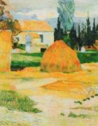 Farm at Arles by Paul Gauguin