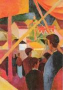 Seiltanzer, 1914 by August Macke