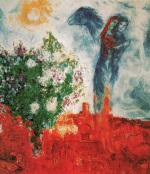 Couple au dessus de St. Paul by Marc Chagall