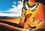 Landscape of Butterflies by Salvador Dali