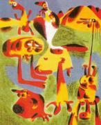 Personnages et Montagnes, 1936 by Joan Miro