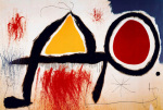 Personagge Devan le Soleil by Joan Miro