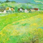 Sunny Meadow, Auvers (detail) by Vincent Van Gogh