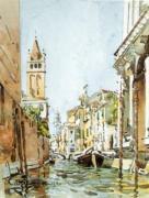 Rio di San Barnaba, Venice by Edward Darley Boit