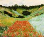 Poppy Field in a Hollow near Giverny by Claude Monet