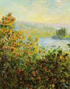 Flower Beds at Vétheuil by Claude Monet