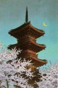 Pagoda in the Moonlight by Kawase Hasui