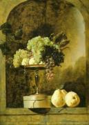 Grapes, Peaches and Quinces in a Niche, 1883 by Frans Snyders