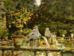 Villa di Marlia Lucca A Fountain 1910