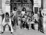 Rolling Stones outside The Alamo in Texas 1975
