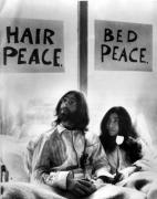 John Lennon in bed with Yoko Ono